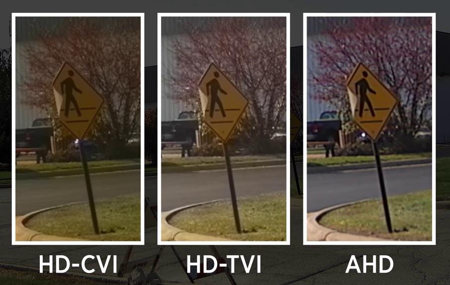 comparativo Imagem das câmeras analógicas