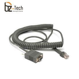 Cabo Datalogic Serial RS232 DB9 para Leitor QuickScan e Gryphon - Espiral 1,8 metro