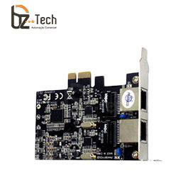Placa de Rede Flexport PCI Express F2722e - 2 Portas Ethernet RJ45 Gigabit - Slim 80mm