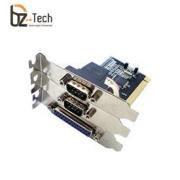 Placa Serial Flexport PCI F1132e - 2 Portas Seriais RS232 e 1 Porta Paralela DB25 - Slim 80mm
