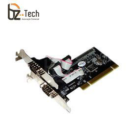 Placa Serial Flexport PCI F1122e - 2 Portas Seriais RS232 com Garantia Estendida - Slim 80mm