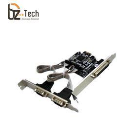 Placa Serial Flexport PCI Express F2134E - 2 Portas Seriais RS232 e 1 Porta Paralela DB25 com Garantia Estendida