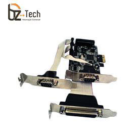 Placa Serial Flexport PCI Express F2132e - 2 Portas Seriais RS232 e 1 Porta Paralela DB25 - Slim 80mm