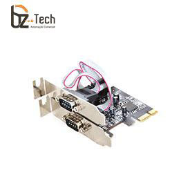 Placa Serial Flexport PCI Express F2122e - 2 Portas Seriais RS232 - Slim 80mm