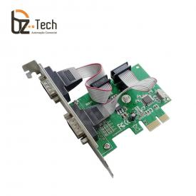 Placa Serial Flexport PCI Express F2122hw - 2 Portas Seriais RS232 - Slim 80mm