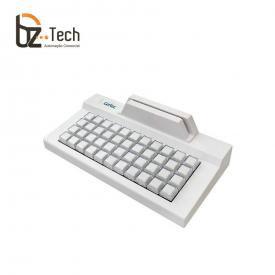 Teclado Gertec TEC 44 Teclas com Leitor Trilha 2 - PS2 Bege