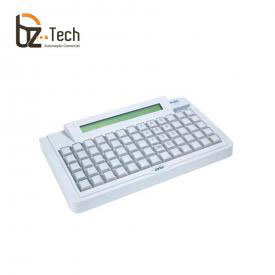 Teclado Gertec TEC 65 Teclas com Display - PS2 Bege