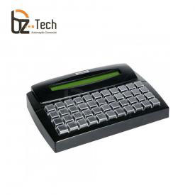 Gertec Teclado Tec E 44 Teclas Display Ps2 Preto