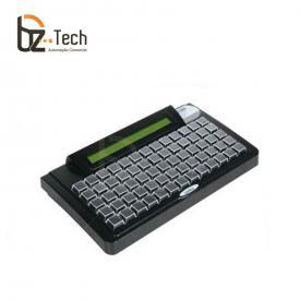 Teclado Gertec TEC-E 65 Teclas com Display - PS2 Preto