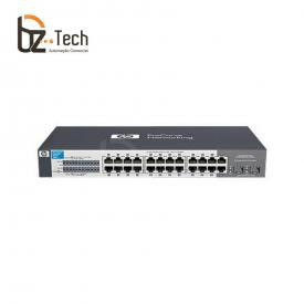 Switch HP OfficeConnect 1410-24G Não Gerenciável (HPE) - 24 Portas 10/100/1000 e 1 Slot Mini GBIC Aberto