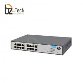 Switch HP OfficeConnect 1420-16G Não Gerenciável (HPE) - 16 Portas 10/100/1000