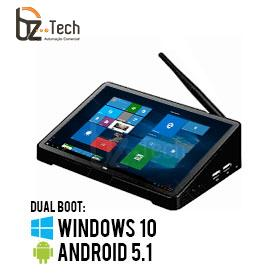 Computador All in One 10.8 Polegadas Touch Screen POStech e-PDV 3 - Intel Atom x5-Z8300 1.8GHz, 4GB, 64GB, Android 5.1 e Windows 10