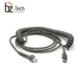 Cabo Zebra USB para Leitor DS3508 e Computador Veicular VC5090 - Espiral 2,8 metros
