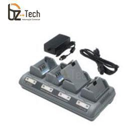Carregador de Bateria Zebra para Impressora Portátil QL, QL Plus, QLn, RW, P4T - 4 Posições (Plug Padrão BR)