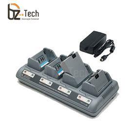 Carregador de Bateria Zebra para Impressora Portátil QL, QL Plus, QLn, RW, P4T - 4 Posições (Plug Padrão US)