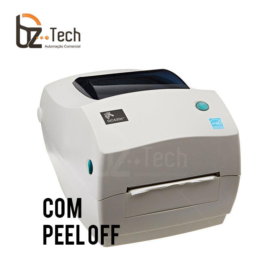 Zebra Impressora Etiquetas Gc420t 203dpi Peeloff