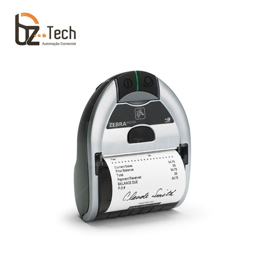 Zebra Impressora Etiquetas Portatil Imz320 203dpi Bluetooth Wifi Angulo