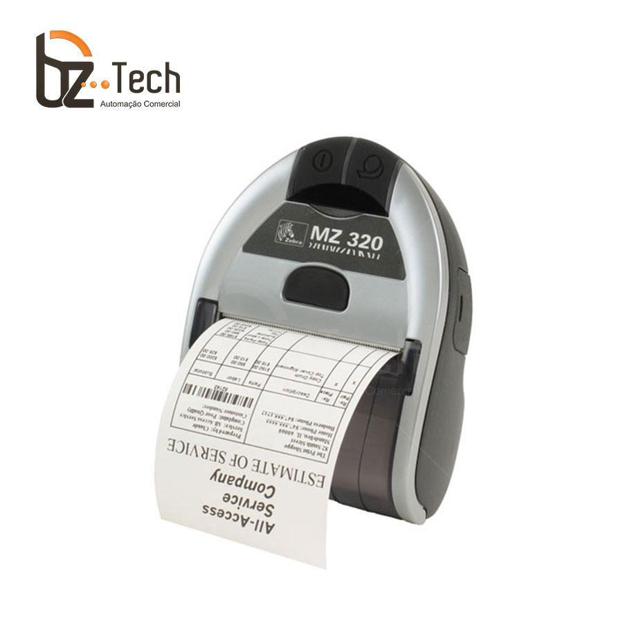 Foto Zebra Impressora Etiquetas Portatil Mz320 203dpi Bluetooth