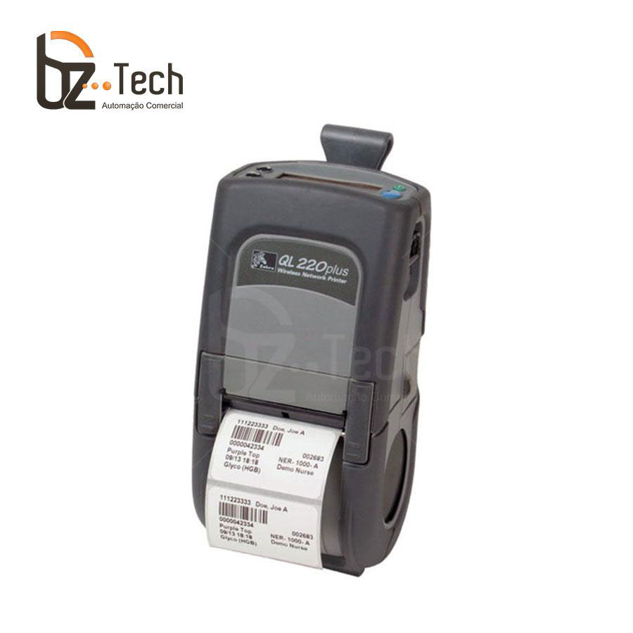 Zebra Impressora Etiquetas Portatil Ql220 203dpi Bluetooth