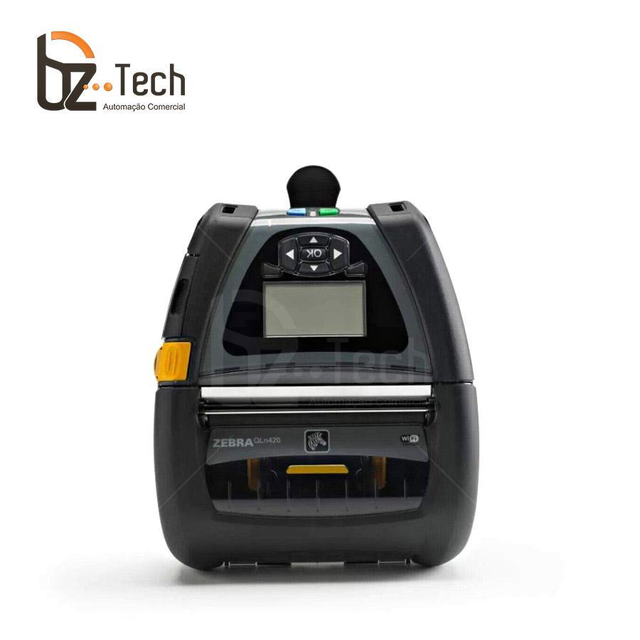 Zebra Impressora Etiquetas Portatil Qln420 203dpi Bluetooth