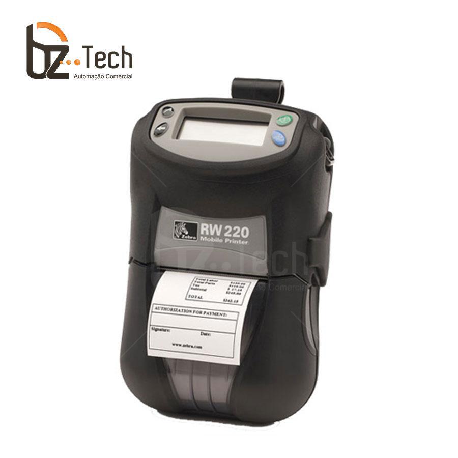 Zebra Impressora Etiquetas Portatil Rw220 203dpi Bluetooth