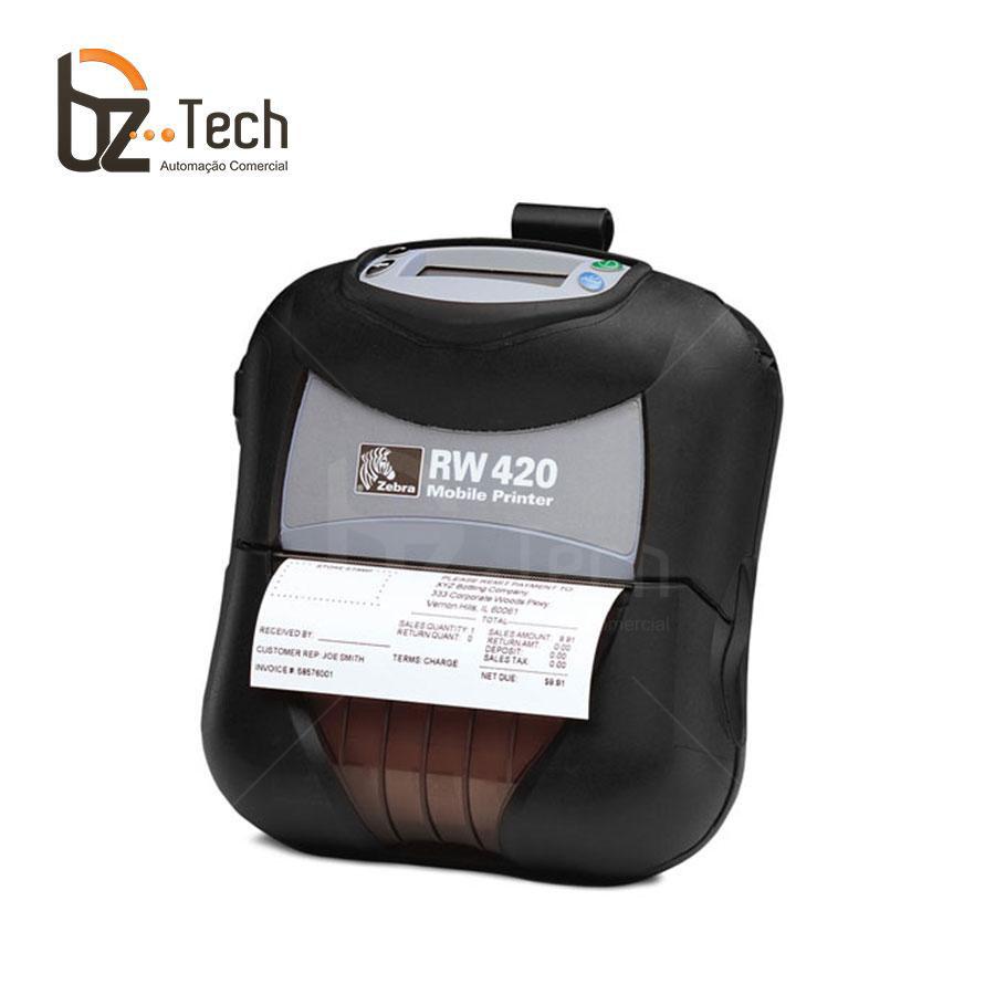 Zebra Impressora Etiquetas Portatil Rw420 203dpi Bluetooth