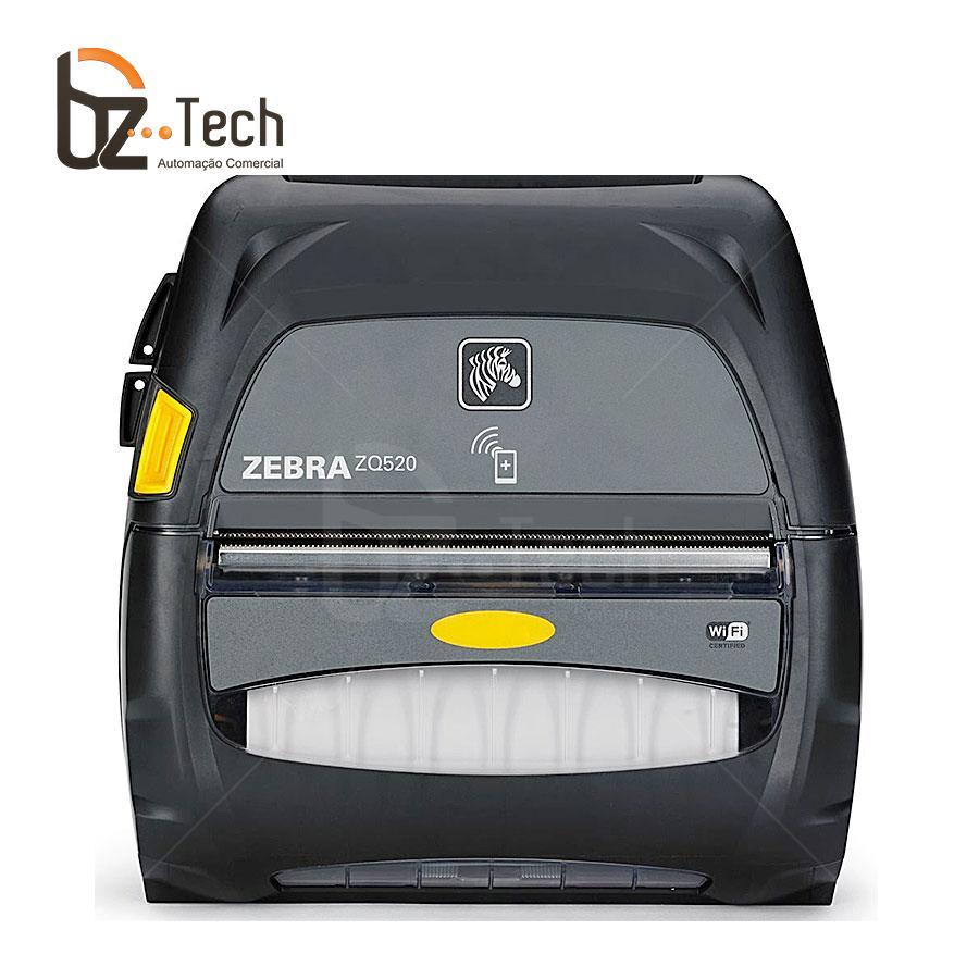 Zebra Impressora Zq520 203dpi Bluetooth Wifi Bateria Estendida Frente