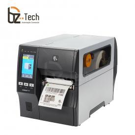 Zebra ZT411 600dpi com Rebobinador de Etiquetas