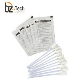 Kit Limpeza Zebra para Impressoras de Cartão - 50 Cartões e 25 Cotonetes