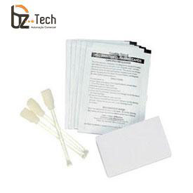 Kit Limpeza Zebra para Impressora P110i, P110m e P120i - 4 Cartões Tamanho Padrão e 4 Tamanho Grande