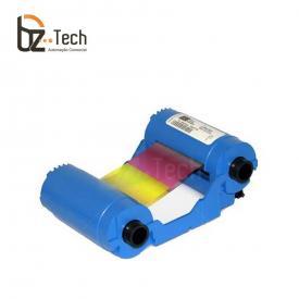 Ribbon Original Zebra Colorido para Impressora P110i e P120i - YMCKO 200 Impressões