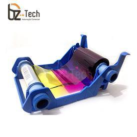 Ribbon Original Zebra Colorido para Impressora P120i - YMCKOK 165 Impressões