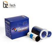 Ribbon Zebra Colorido para Impressora P300C, P310C, P400, P420C, P500, P520C, P600 e P720C - YMCKO 200 Impressões