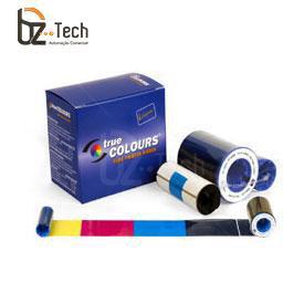 Ribbon Zebra Colorido para Impressora P630i e P640i - YMCKK 500 Impressões